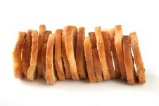 Free Mini Baked Bread Chips Stacked Stock Images - 2271844