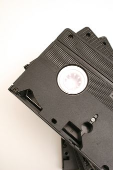 Free Stacked Vhs Tapes On Top Royalty Free Stock Photography - 2271957