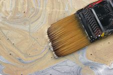 Gold And Silver Paint Royalty Free Stock Photo