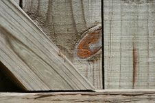 Weathered Wood Gate Royalty Free Stock Images
