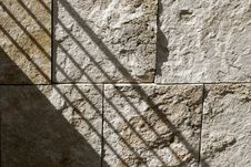 Shadow On Textured Wall Stock Images