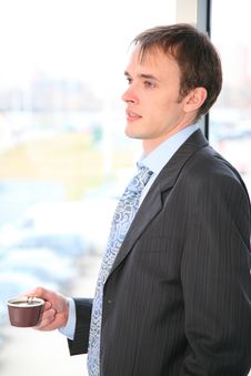Free Businessman With Coffee Stock Image - 2274741