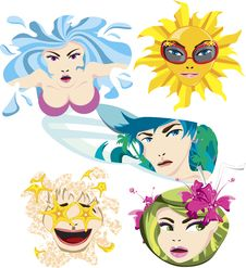 Free Quirky Summer Expressions Stock Photos - 2275023