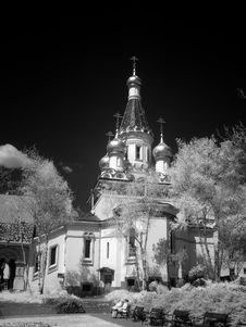 Free Church In IR - Infrared Royalty Free Stock Photos - 2275128