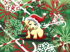 Free Candy Cane Puppy Royalty Free Stock Image - 2275156