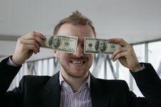 Man With Money Royalty Free Stock Photos