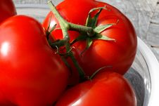 Free Tomatoes On A Glass Plate Stock Photo - 2276780