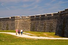Free Old Fort Wall And Dry Moat Stock Image - 2278421
