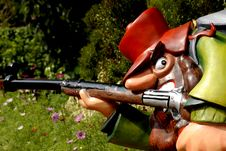 Free Robber And Gun Royalty Free Stock Images - 2278709