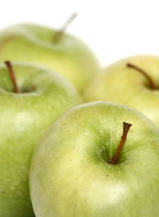 Free Many Green Apples On A White B Stock Photo - 2279020