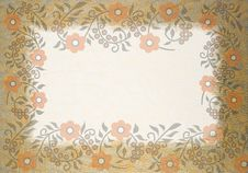 Free Orange Floral Background Stock Image - 2279121