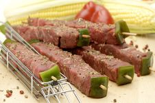 Free Beef Kebabs Stock Photo - 2279950