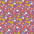 Free Valentine Seamless Pattern With Hearts Stock Photo - 22703240