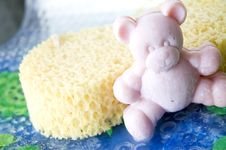 Free Pink Teddy Bear Soap Royalty Free Stock Photography - 22702287