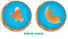 Free Beautiful Round Logos Royalty Free Stock Photo - 22706665