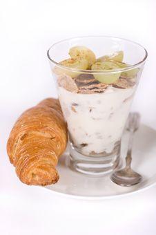 Free Muesli, Yoghurt And Croissants Stock Photo - 22707130