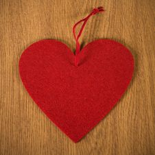 Free Red Heart Of Textiles Stock Photos - 22707183