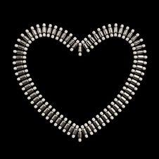 Heart Shape Jewelery Symbol Design Stock Photo