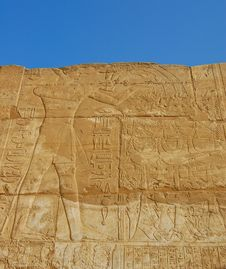 Free Egyptian Relief On Wall Stock Image - 22708161