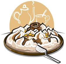 Ice Cream Cake And Tea Royalty Free Stock Image