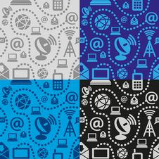 Free Web Technology Seamless Pattern Stock Photo - 22709180