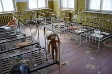 Abandoned Kindergarten In The Village Of Kopachi, Kiev Region, Ukraine. Royalty Free Stock Images