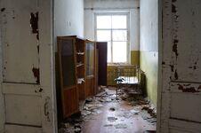 Abandoned Kindergarten In The Village Of Kopachi, Kiev Region, Ukraine. Stock Photo
