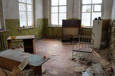 Abandoned Kindergarten In The Village Of Kopachi, Kiev Region, Ukraine. Stock Images