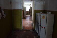 Abandoned Kindergarten In The Village Of Kopachi, Kiev Region, Ukraine. Royalty Free Stock Photography