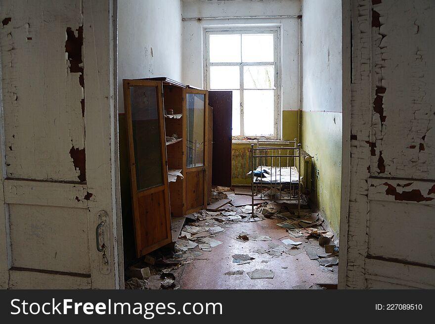 Abandoned kindergarten in the village of Kopachi, Kiev region, Ukraine.