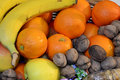 Free Fruits And Wicker Basket Stock Photography - 22712972