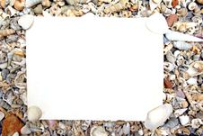 Free Blank Paper On Sea Shell Stock Photography - 22713672
