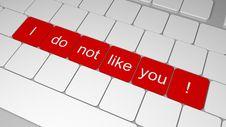 Free Unfriendly Keyboard Stock Photos - 22714893