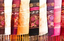 Free Multi-colored Scarf. Royalty Free Stock Photo - 22715115