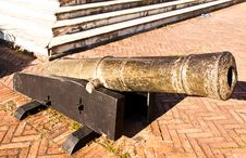 Free Ancient Cannons. Royalty Free Stock Image - 22715566