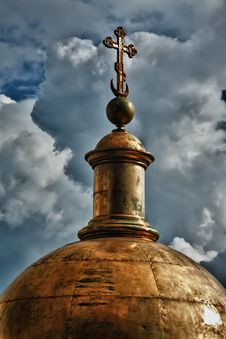 Golden Dome Of The Church Stock Photos