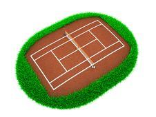 Free Tennis Court 3D Stock Image - 22717241