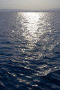 Free Sea Water Ripples With Horizon And Sun Track Royalty Free Stock Photos - 22720218