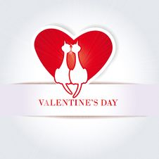 Free Cute Card On Valentine S Day Stock Photography - 22720082
