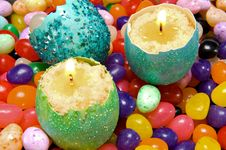 Free Easter Eggshell Candles Stock Images - 22721114
