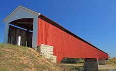 Covered Bridge At Medora, In. Stock Photography