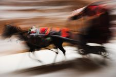 Free Running Donkey Carriage Panning Royalty Free Stock Photos - 22722758