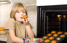 Free Cute Young Boy Cooking Stock Photos - 22723443