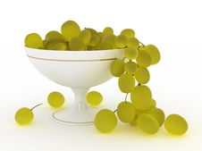 Grape In Vase Stock Image
