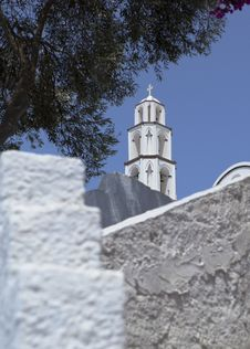 Free Santorini Church Tower Stock Photography - 22724302