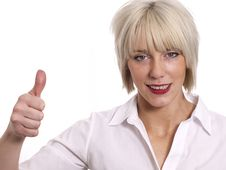Free Young Business Woman With Her Thumb Up Stock Image - 22724321