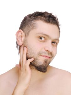 Free Men Before Shaving Stock Photo - 22725000