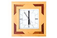 Wooden Clock Royalty Free Stock Photos