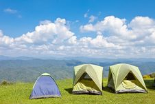 Free Tent On Mountain Stock Photography - 22725592