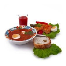 Free Borsch And Stuffed Cabbage Royalty Free Stock Image - 22726286